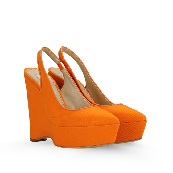 Stella McCartney, Nathalie Canvas Wedges 140mm