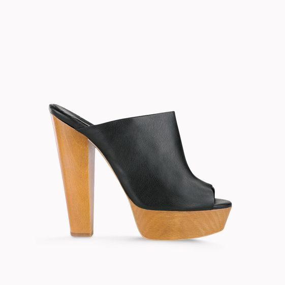 Stella McCartney, Mules noires en faux nappa Bailey