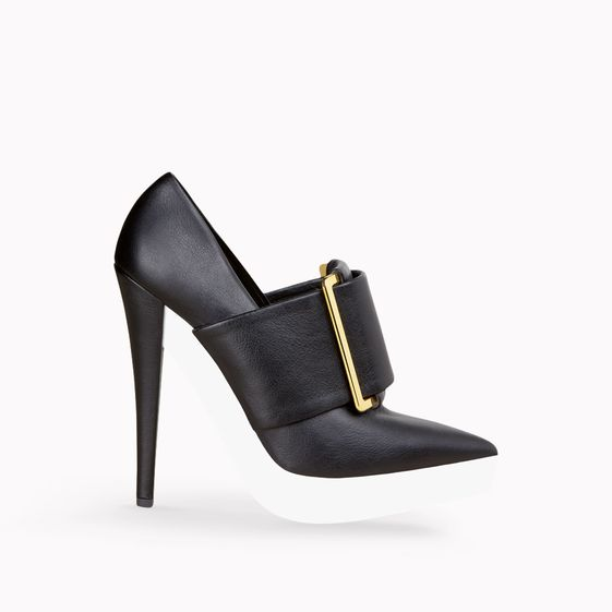 Stella McCartney, Black Faux Nappa Joan Buckle Court 135mm