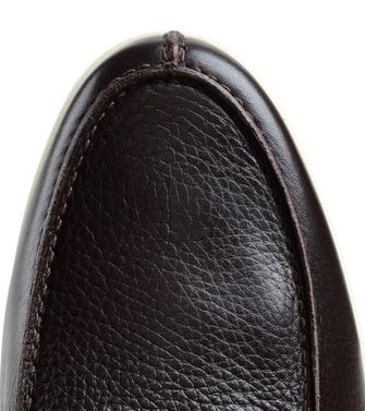 ERMENEGILDO ZEGNA: Loafers Pastel blue - Dark brown - Brown - 44493208IC