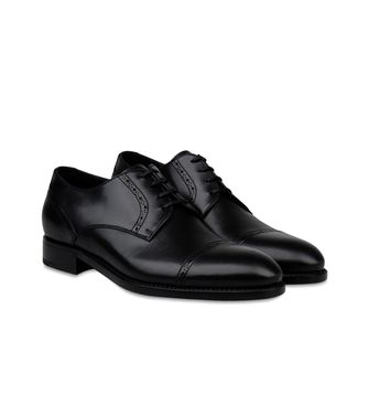 ERMENEGILDO ZEGNA: Laced shoes Black - Dark brown - 44493211BM