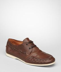 BOTTEGA VENETA - Casual shoes, Edoardo Intrecciato Calf Boat Shoe