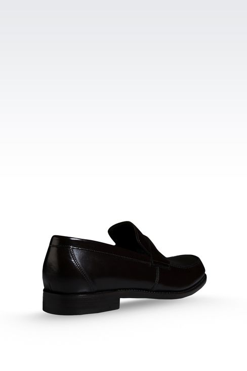 LOAFER IN MATTE CALFSKIN ROUND TOE: Moccasins Men by Armani - 3