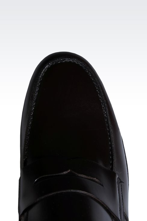 LOAFER IN MATTE CALFSKIN ROUND TOE: Moccasins Men by Armani - 4