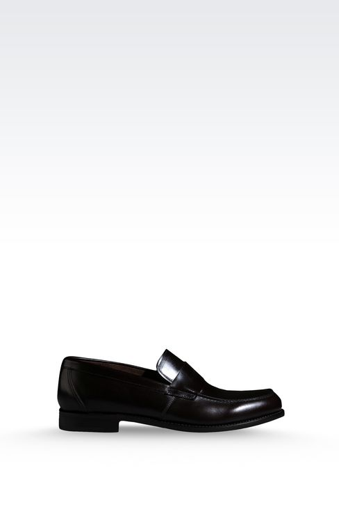 LOAFER IN MATTE CALFSKIN ROUND TOE: Moccasins Men by Armani - 1