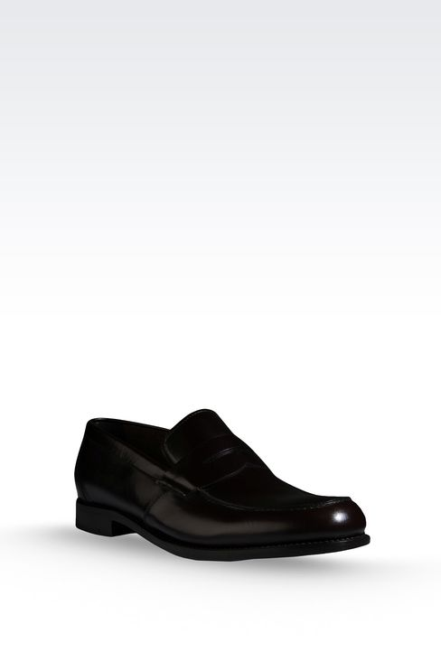 LOAFER IN MATTE CALFSKIN ROUND TOE: Moccasins Men by Armani - 2