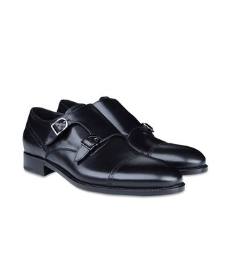 ERMENEGILDO ZEGNA: Laced shoes Black - Dark brown - 44504346LM