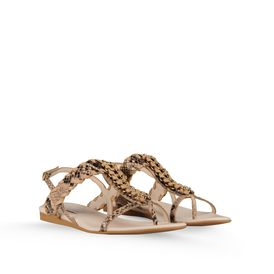STELLA McCARTNEY, Sandals, Grace Faux Python Chain Sandal