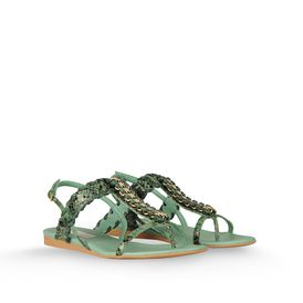 STELLA McCARTNEY, Sandali, Sandali Grace in Pitone Ecologico con Catena