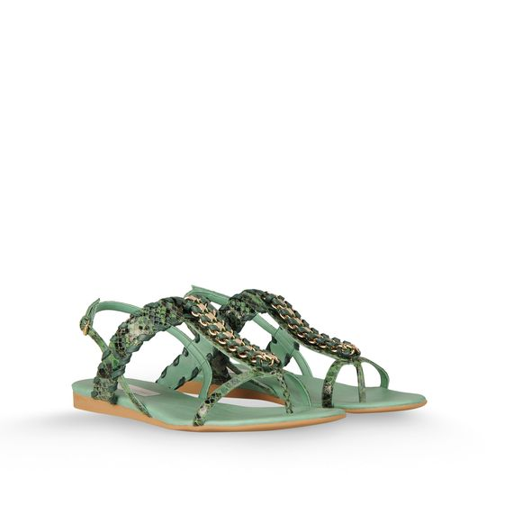Stella McCartney, Grace Faux Python Chain Sandal
