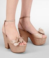 Calf Butterfly Gilda Wedge