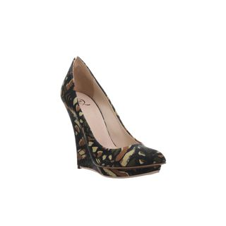 McQ, High-heels, Butterfly Camouflage Platform Wedge