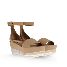 STELLA McCARTNEY, Wedges, Valerie Faux Suede Plexi Wedges