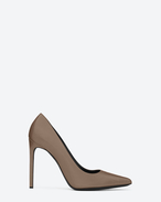 High Heel Pump Classic paris escarpin pump in Dove white leather SAINTLAURENT