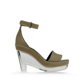 STELLA McCARTNEY, Semelles compensées, Valerie Canvas Plexi Wedges