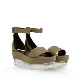 STELLA McCARTNEY, Wedges, Valerie Canvas Plexi Wedges