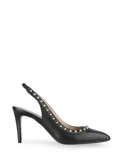 PERFORATED LEATHER PUMPS