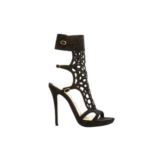ALEXANDER MCQUEEN, High-heels, Honeycomb Mid-Heel Strappy Sandal