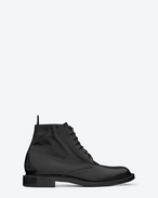 SIGNATURE Army LACE UP BOOT IN BLACK LEATHER
