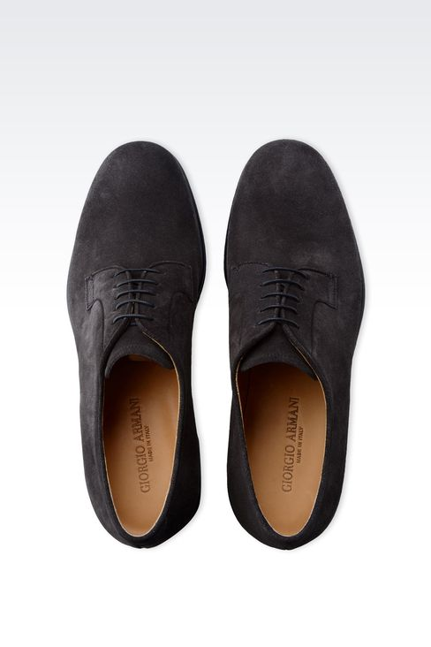 DERBY IN SUEDE: Lace-up shoes Men by Armani - 3