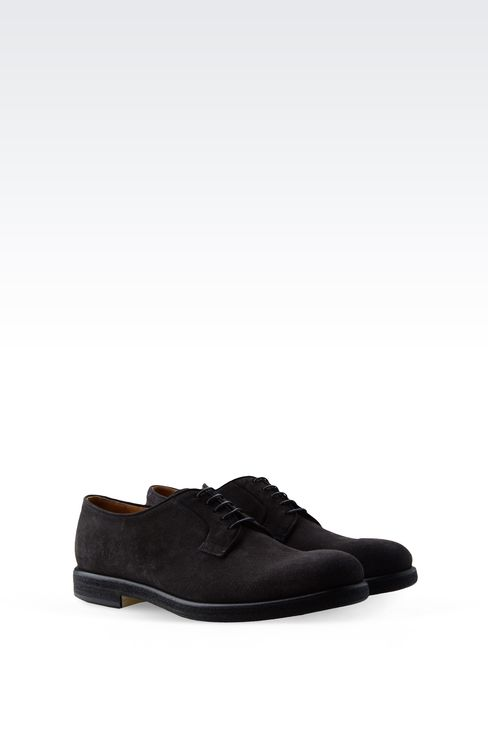 DERBY IN SUEDE: Lace-up shoes Men by Armani - 2