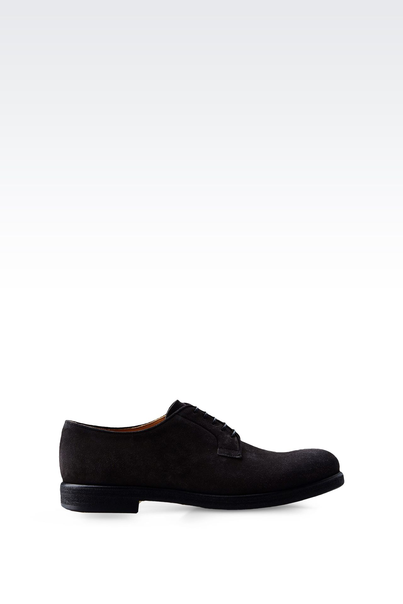 DERBY IN SUEDE: Lace-up shoes Men by Armani - 0