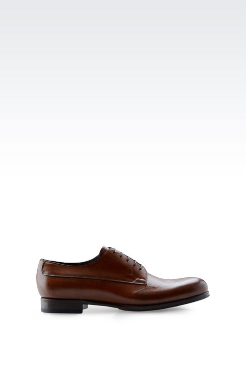 DERBY IN BRUSHED CALFSKIN: Lace-up shoes Men by Armani - 1