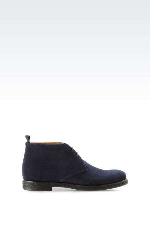 DESERT BOOT IN SUEDE: Desert boots Men by Armani - 1