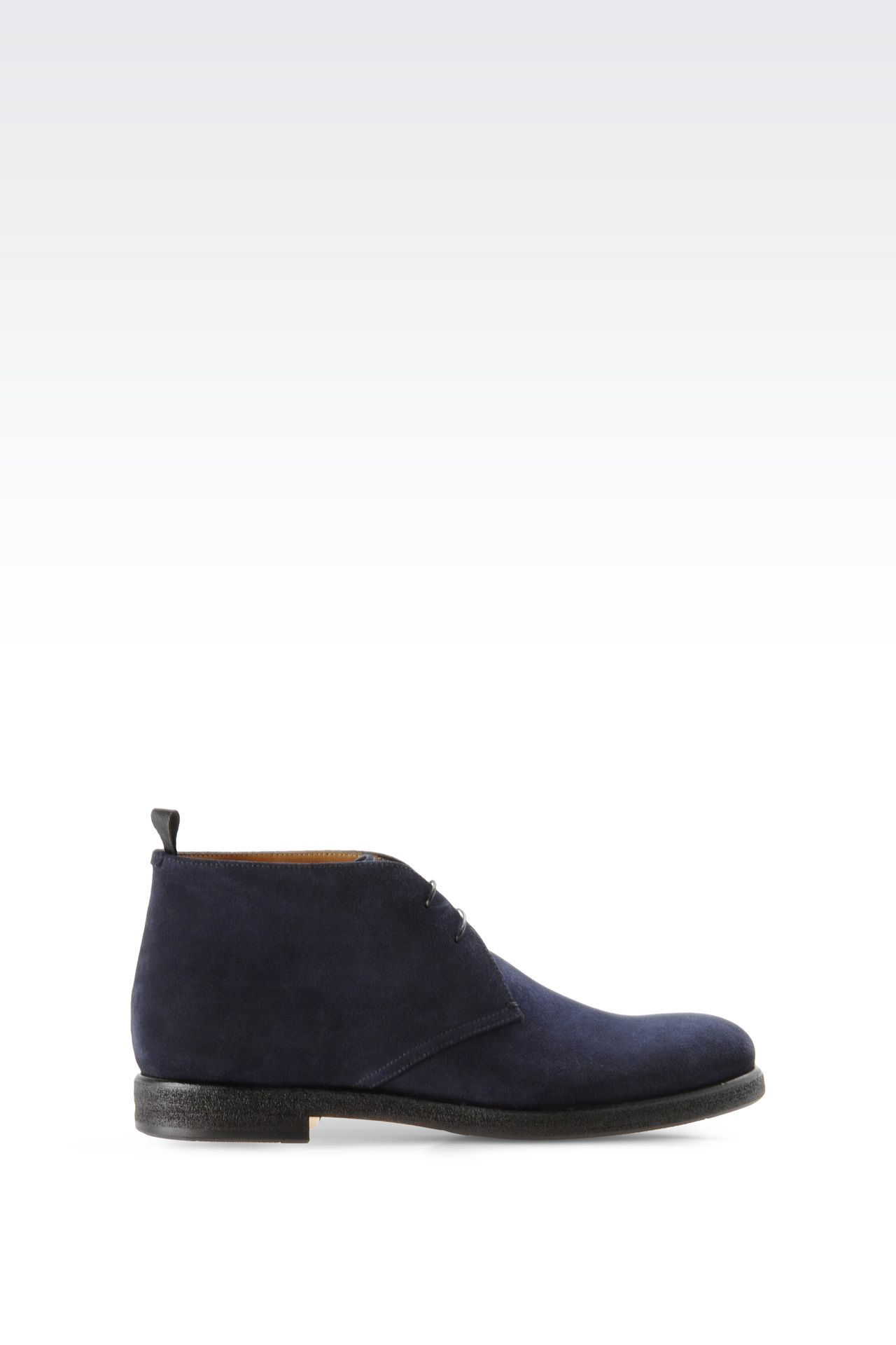 DESERT BOOT IN SUEDE: Desert boots Men by Armani - 0