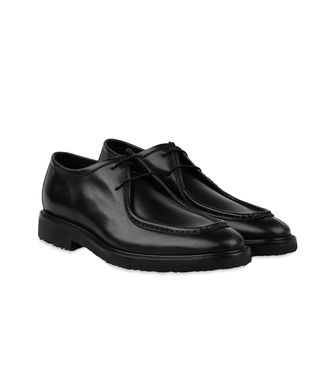 ERMENEGILDO ZEGNA: Laced shoes Black - Dark brown - 44547124FX