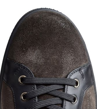 ZEGNA SPORT: Sneakers Pastel blue - Dark brown - Brown - 44547126BT