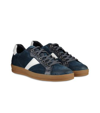 ZEGNA SPORT: Sneakers Pastel blue - Dark brown - Brown - 44547126NK