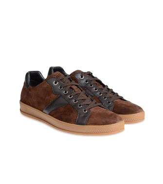 ZEGNA SPORT: Sneakers Pastel blue - Dark brown - Brown - 44547126SC