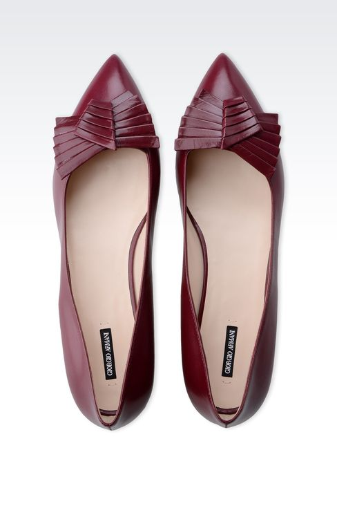 POINTED BALLET FLAT WITH BOW: Ballet flats Women by Armani - 3