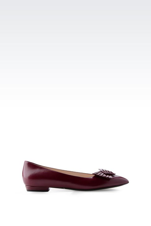 POINTED BALLET FLAT WITH BOW: Ballet flats Women by Armani - 1