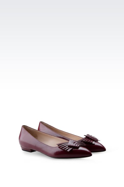 POINTED BALLET FLAT WITH BOW: Ballet flats Women by Armani - 2