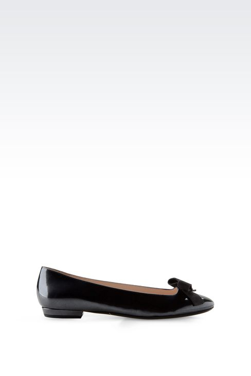 LEATHER BALLET FLAT WITH BOW: Ballet flats Women by Armani - 1