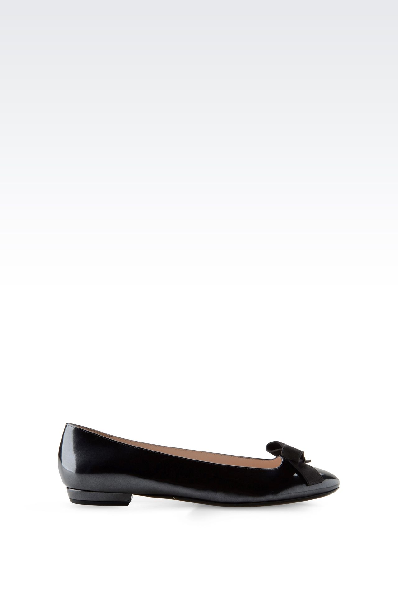 LEATHER BALLET FLAT WITH BOW: Ballet flats Women by Armani - 0