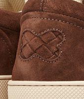 Sneaker aus Wildleder Intrecciato Edoardo