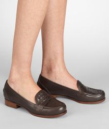 BOTTEGA VENETA - Shoes, Espresso Intrecciato Calf Loafer