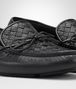 BOTTEGA VENETA WAVE DRIVER IN NERO INTRECCIATO CERVO Mocassin or Slipper U ap