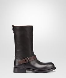 BOTTEGA VENETA - Boots and ankle boots, Nero Espresso Calf Boot