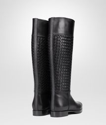 BOTTEGA VENETA - Shoes, Nero Intrecciato Calf Boot