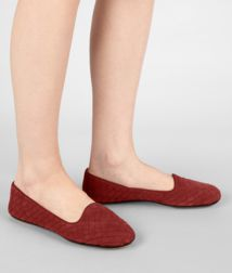 BOTTEGA VENETA - Shoes, Brique Intrecciato Suede Slipper