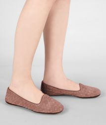 BOTTEGA VENETA - Shoes, Watteau Intrecciato Suede Slipper