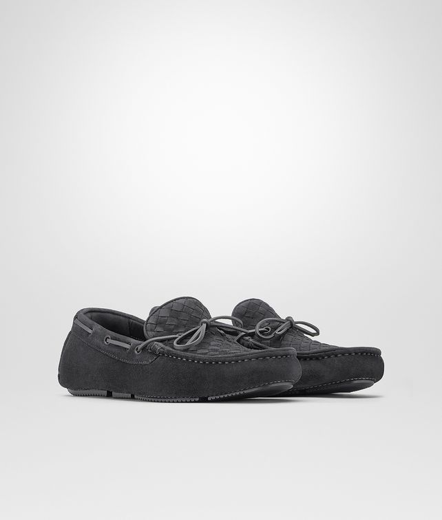 BOTTEGA VENETA WAVE DRIVER IN ARDOISE INTRECCIATO SUEDE Mocassin or Slipper U fp