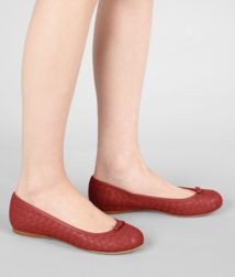 BOTTEGA VENETA - Shoes, Brique Intrecciato Nappa Ballerina