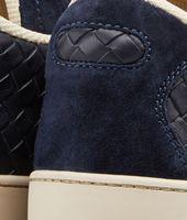Sneakers Prusse in Vitello Intrecciato
