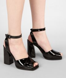 BOTTEGA VENETA - Shoes, Nero Vernice Calf Sandal