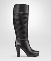 Nero Intrecciato Calf Boot